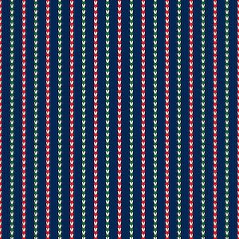 Abstract gestreept gebreide kerstvakantie trui patroon ontwerp