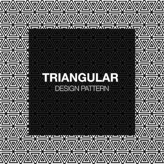 Abstract gestripte driehoekige geometrische naadloze patroon