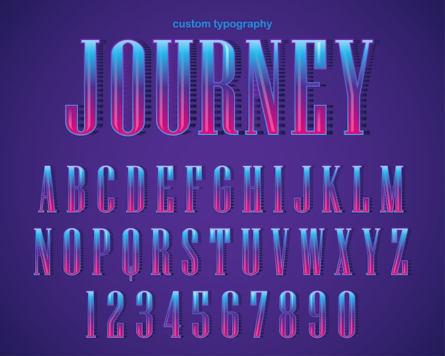 Abstract gewaagd serif typografieontwerp