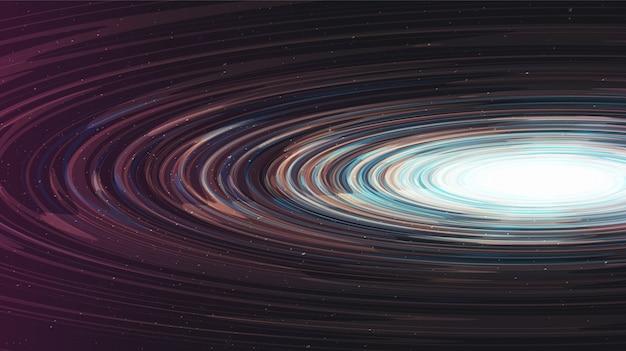 Abstract glanzend spiraalvormig zwart gat op galaxy-achtergrond. conceptontwerp van planeet en natuurkunde.