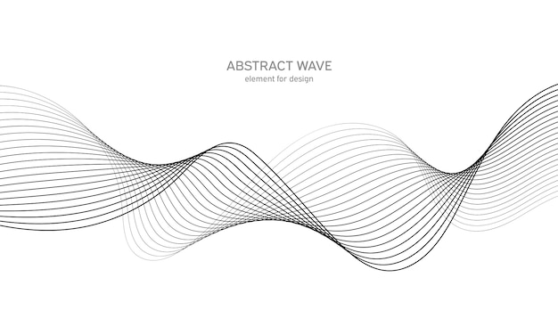Abstract golfelement voor ontwerp. digitale frequentie track-equalizer.