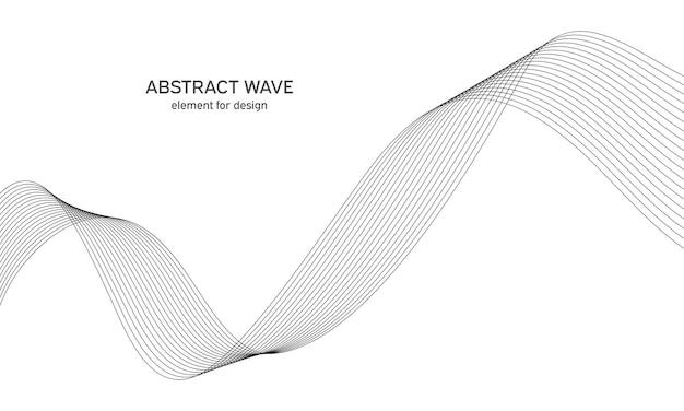 Abstract golfelement voor ontwerp digitale frequentietrack-equalizer
