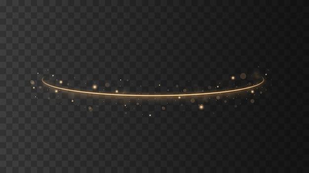 Abstract gouden golfontwerpelement met glittereffect