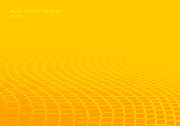 Abstract gradiënt geel vierkanten golfpatroon