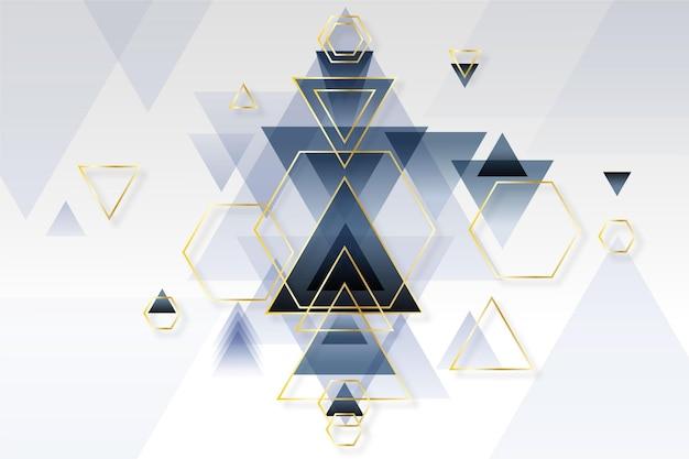 Abstract gradiënt geometrisch behang