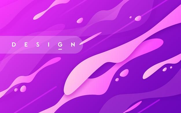 Abstract gradiënt geometrisch ontwerp, kleurrijke golvende minimale achtergrond