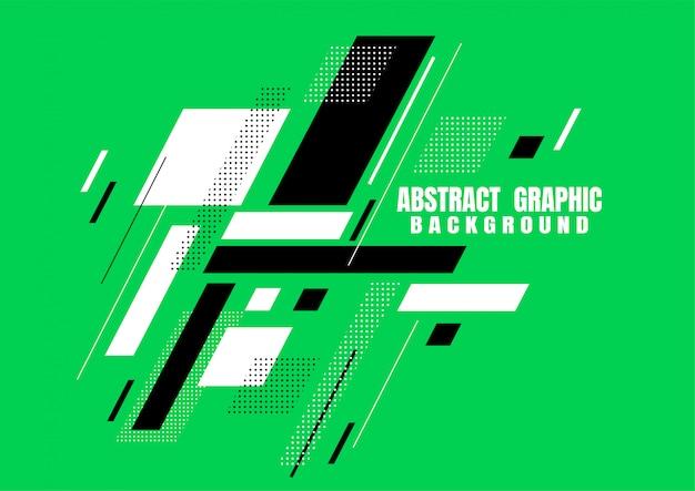 Abstract grafisch geometrisch vormenontwerp voor dekking