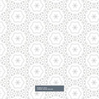 Abstract grijs patroon achtergrond met bloem stijl vormen