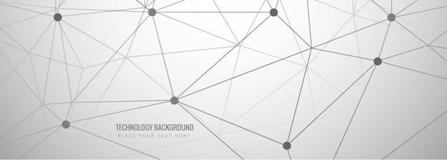 Abstract grijs technologiebannerontwerp