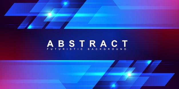 Abstract groeiend snelheidslicht dat zich snel op digitale futuristische achtergrond beweegt