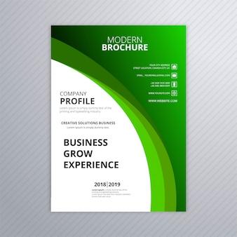 Abstract groen bedrijfsbrochuremalplaatje met golfontwerp