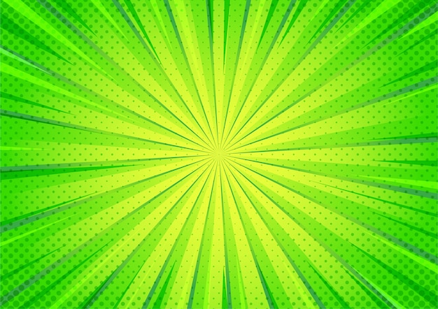 Abstract groen grappig halftone het gezoempatroon van de beeldverhaalstijl.