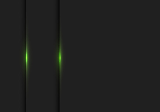 Abstract groen licht op zwarte schaduw lege ruimte achtergrond.