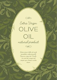 Abstract groen natuurlijk vintage label