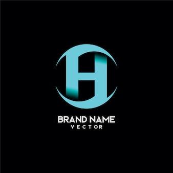 Abstract h letter brand logo design