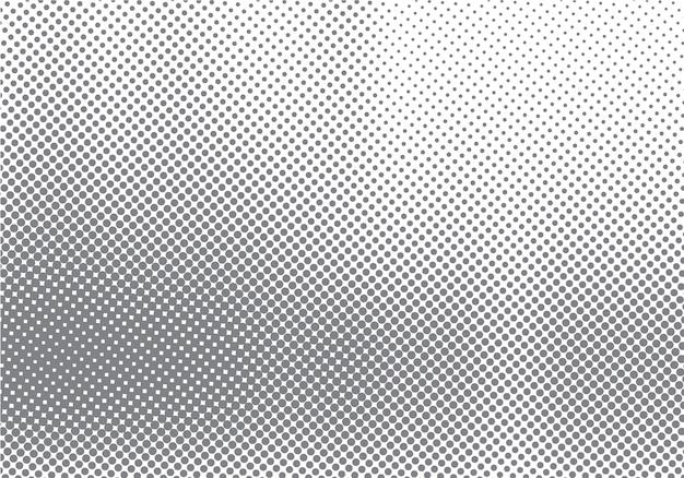Abstract halftone motieeffect met langzaam verdwijnende puntgradatie