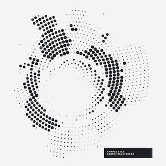 Abstract haltone grunge achtergrond in de cirkel stijl
