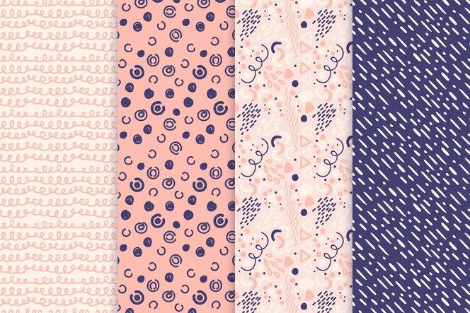 Abstract hand getrokken patroonpak