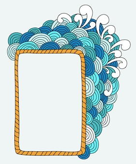 Abstract handgetekende frame met lege ruimte