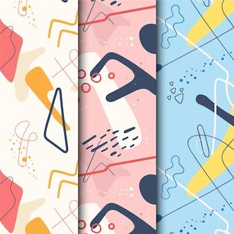 Abstract handgetekende patroon thema