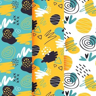 Abstract handgetekende patroon