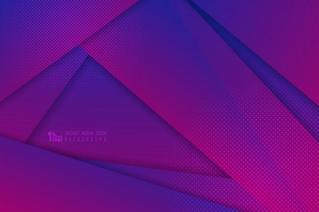 Abstract het ontwerpkunstwerk van gradiënt blauw en roze technologie met halftone decoratieachtergrond. Premium Vector