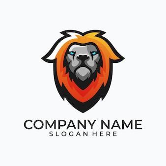 Abstract hoofd lion concept illustratie vector sjabloon