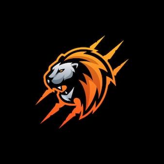 Abstract hoofd lion illustratie vector sjabloon