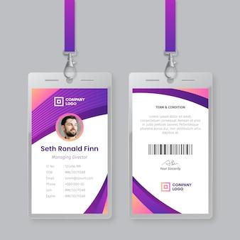 Abstract id-kaarten sjabloon concept