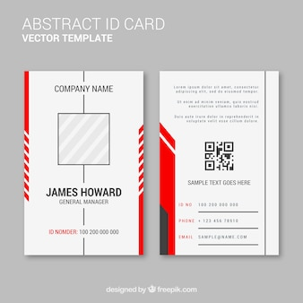 Abstract id-kaartsjabloon met platte ontwerp