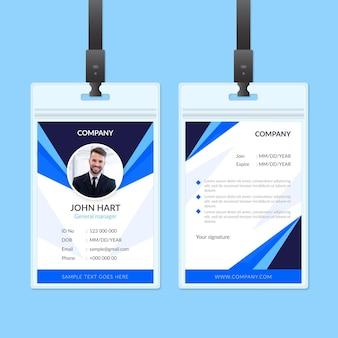 Abstract identiteitskaart-ontwerp