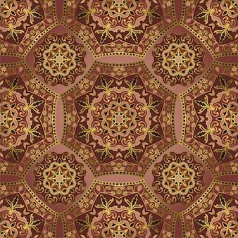 Abstract indisch patroon met mandala's.