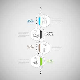 Abstract infographic-ontwerp
