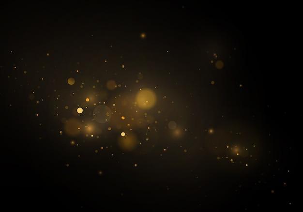 Abstract intreepupil circulaire gouden luxe goud glitter bokeh lichten achtergrond