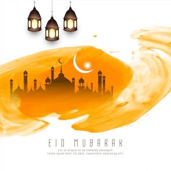 Abstract islamitisch festival geel