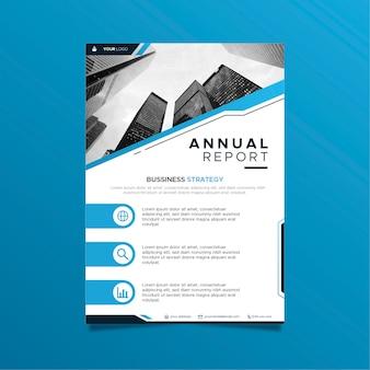Abstract jaarverslagmalplaatje met foto