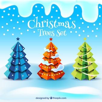 Abstract kerst bomen collectie