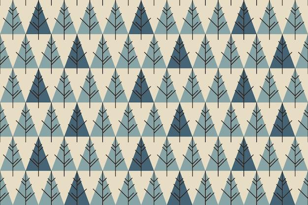 Abstract kerstbomen naadloos patroon