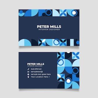 Abstract klassiek blauw visitekaartjethema voor sjabloon