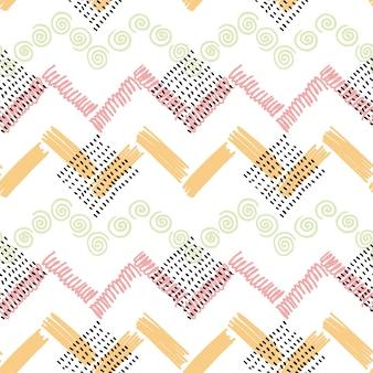 Abstract kleuren vector naadloos patroon