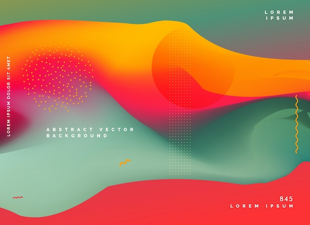 Abstract kleurrijk achtergrondgradiëntontwerp