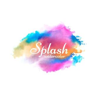 Abstract kleurrijk aquarel splash ontwerp