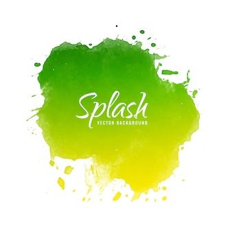 Abstract kleurrijk de plonsontwerp van de waterverfinkt