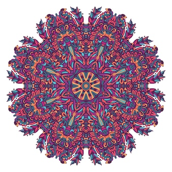 Abstract kleurrijk decoratief medaillonpatroon.