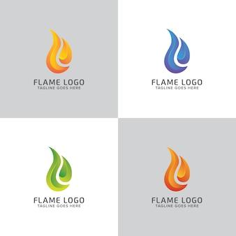 Abstract kleurrijk fire flame-logo