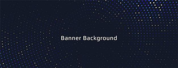 Abstract kleurrijk halftone bannerontwerp