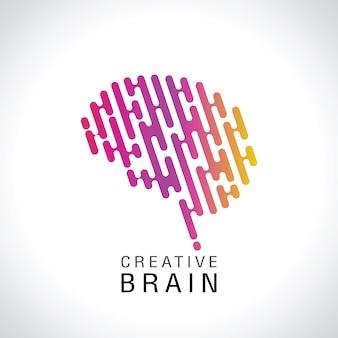 Abstract kleurrijk hersenenembleem