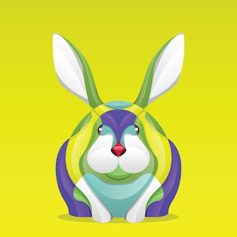 Abstract kleurrijk konijn