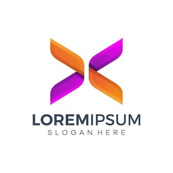 Abstract kleurrijk logo ontwerp