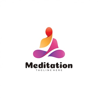 Abstract kleurrijk meditatie yoga-logo